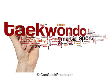 Taekwondo word cloud concept - Taekwondo word cloud