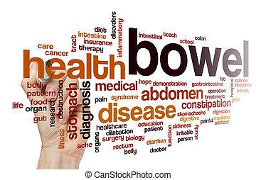 Bowel word cloud concept