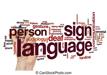 Sign language word cloud concept