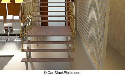 interior design 3d render