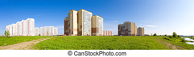 New buildings panorama Russia Moscow region