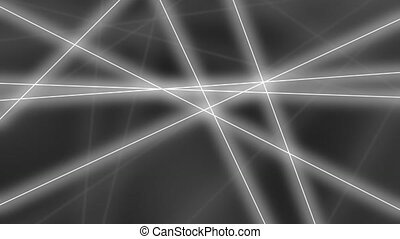 Hi-tech motion background. Abstract gray lines crossings. 8K...