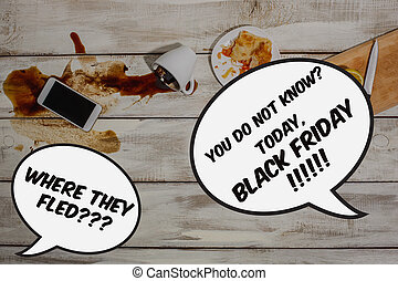 Black Friday sale - holiday shopping concept - text on...