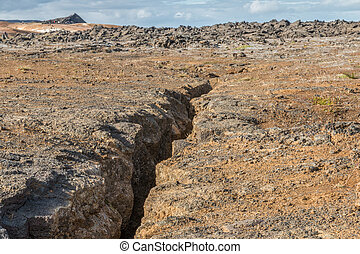 Volcanic Wasteland of Krafla - Lava desert in the famous...