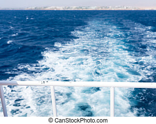 View of ship's wake from vessel