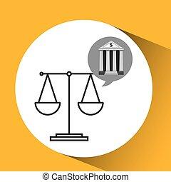 bank concept safe balance money icon