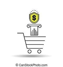 e-commerce cart shop money icon