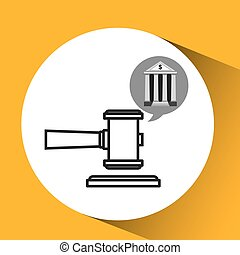 bank concept safe money justice icon
