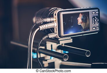 Making Music Video - Video Recording Production. Making...