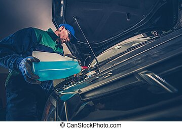 Refilling Car Washer Fluid - Refilling Car Windshield Washer...