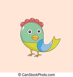 Vector color Bird - Vector color image of a bird, bird...