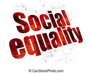 igualdad,  social, Plano de fondo,  digital, política,  concept: