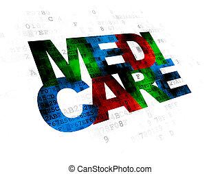 Medicine concept: Medicare on Digital background