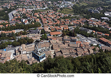Republic of San Marino - View of the town of San Marino from...