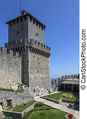 Fortress of Guaita - San Marino - The fortress of Guaita on...