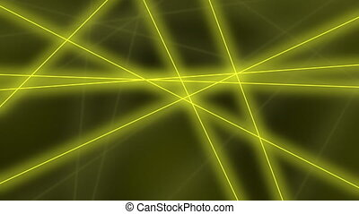 Hi-tech motion background. Abstract yellow lines crossings. 8K seamless loop animation