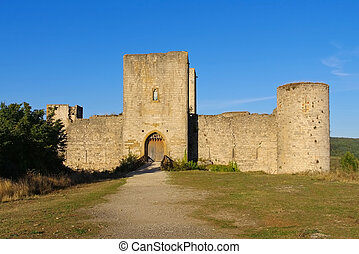castle Puivert in France - cathare castle Puivert in...