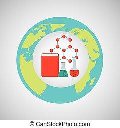 concepto, Ciencia, Laboratorio, gráfico, elementos, icono
