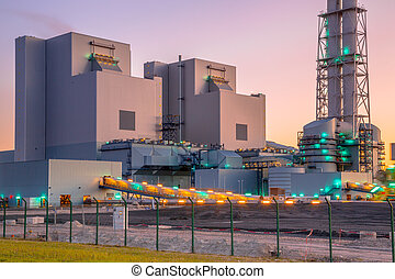New coal and biomass powered plant - Detail of the...