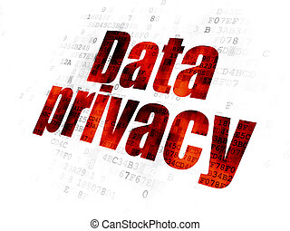 Security concept: Data Privacy on Digital background -...