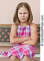 Child portrait - offended expression