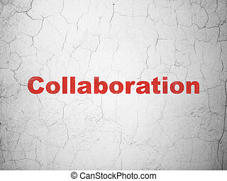 Business concept: Collaboration on wall background