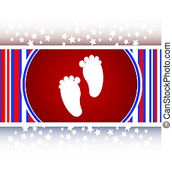 footprint circle glossy web icon