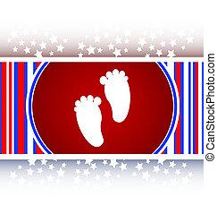 footprint circle glossy web icon