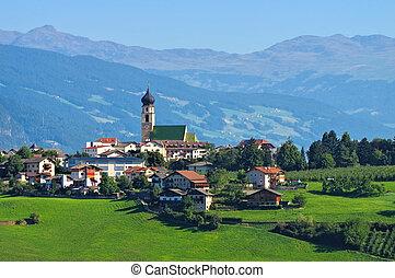 Voels am Schlern in italian Dolomites