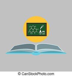 sciencie glove and laboratory board icon vector illustration...
