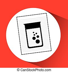 research chemical laboratory container icon vector...
