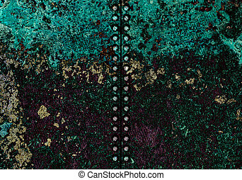 Metal texture background with screw