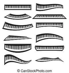 鋼琴, 被隔离, 鍵盤
