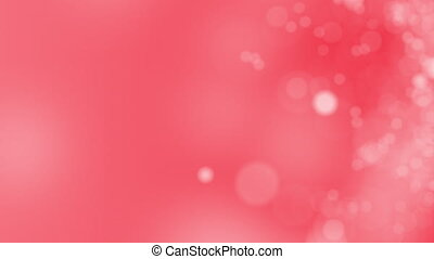 Red motion background. Abstract glowing bokeh circles or sparks, seamless loop clip