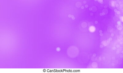 Purple motion background. Abstract glowing bokeh circles or...