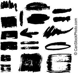 Brush stroke set. - Vector large set of different grunge...