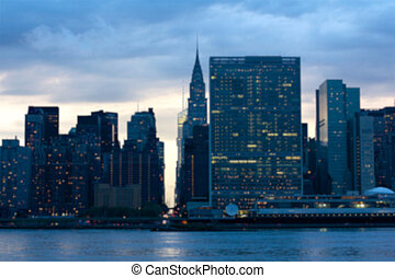 United Nations Blur - Blurred background of view of the...
