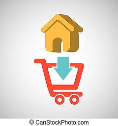 e-commerce store web page icon digital