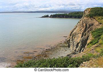 Cape Enrage, New Brunswick, Canada - Dramatic cliifs of Cape...