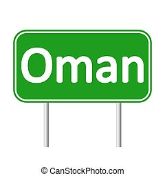 Oman road sign. - Oman road sign isolated on white...