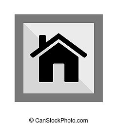 Home Icon Silhouette, art vector design