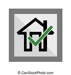 Okay Home Icon, art vector design