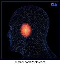 3d render Medical illustration showing inflamed, painful.