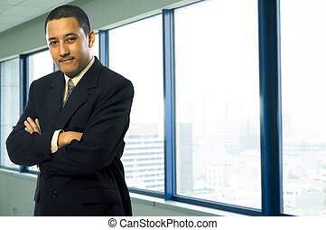 Confident Business Man - Confident business man at his...