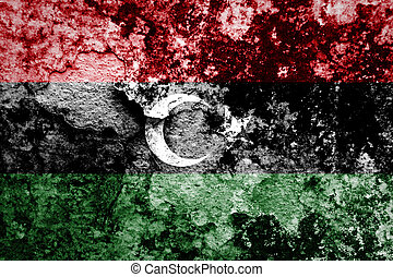 Libya Flag painted on concrete wall