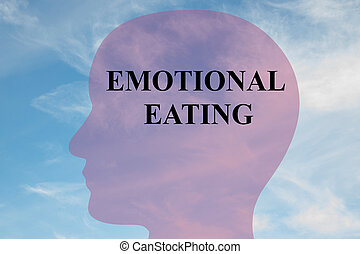 Emotional Eating concept - Render illustration of 'EMOTIONAL...
