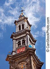 Westerkerk - The tower of the famous Westerkerk church in...