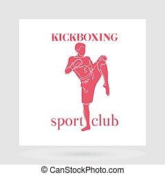 Kickboxing fight club logo design - Fight club logo design...