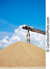 huge sand pile