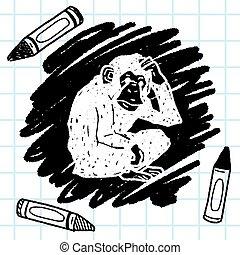 orangutan monkey doodle